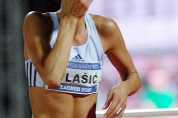 Believe it! Blanka Vlasic after her 2.08m leap in Zagreb (Zagreb organisers)