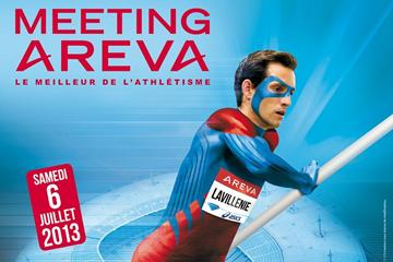 Renaud Lavillenie advertising poster for the 2013 IAAF Diamond League meeting in Paris (organisers)