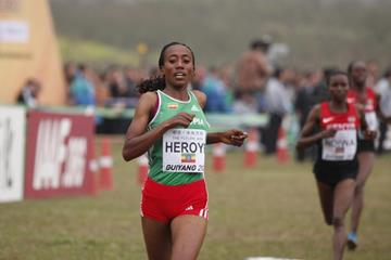 Ethiopia's Alemitu Heroye in the senior women's race at the IAAF World Cross Country Championships, Guiyang 2015 (Getty Images)