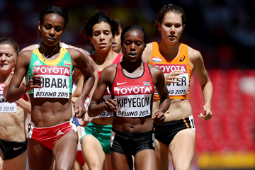 Genzebe Dibaba and Faith Kipyegon in the 1500m at the IAAF World Championships Beijing 2015 (Getty Images)