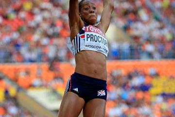 Shara Proctor in the womens Long Jump at the IAAF World Athletics Championships Moscow 2013 (Getty Images)