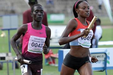 Mercy Cherono (49) en route to setting a 4x1500m world record (David Ogeka@PhotoRun)