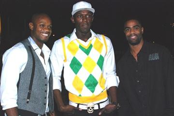 Asafa Powell, Usain Bolt and Tyson Gay: 20 December 2009 - National indoor Sports Centre, Kingston (pace sports management)