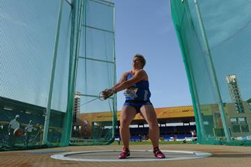 Anita Wlodarczyk, winner of the hammer at the IAAF Continental Cup, Marrakech 2014 (Getty Images)