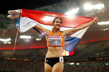 Dafne Schippers after winning the 200m at the IAAF World Championships, Beijing 2015 (Getty Images)