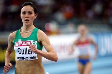 Irish record-holder Mary Cullen wins the second heat of the women's 3000m (Getty Images)