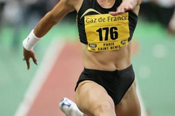 Tatyana Lebedeva of Russia wins the Triple Jump at the Paris Golden League meeting (Getty Images)
