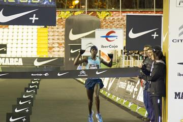 Leonard Komon wins at the 2013 San Silvestre Vallecana in Madrid (Organisers)
