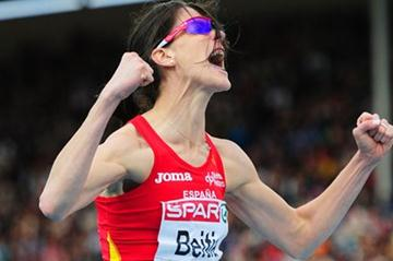 Ruth Beitia wins the European title in Helsinki (Getty Images)