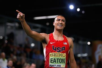 Heptathlon winner Ashton Eaton at the IAAF World Indoor Championships Portland 2016 (Getty Images)