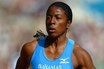 Debbie Ferguson in action in the women's 200m heats (Getty Images)