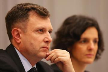 Sopot mayor Jacek Karnowski and ERGO Arena president Magdalena Sekula (Getty Images)