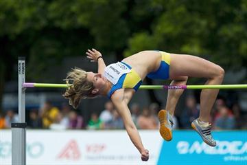 Eliska Klucinova high jumping in Kladno (Pavel Gryc)