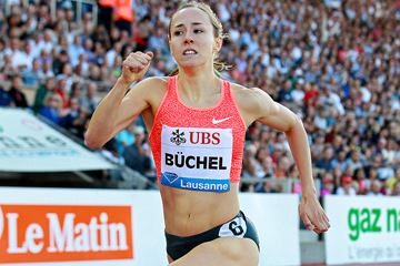 Selina Buchel in the 800m at the IAAF Diamond League meeting in Lausanne (Victah Sailer)