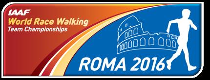 IAAF World Race Walking Team Championships Rome 2016 logo (IAAF)