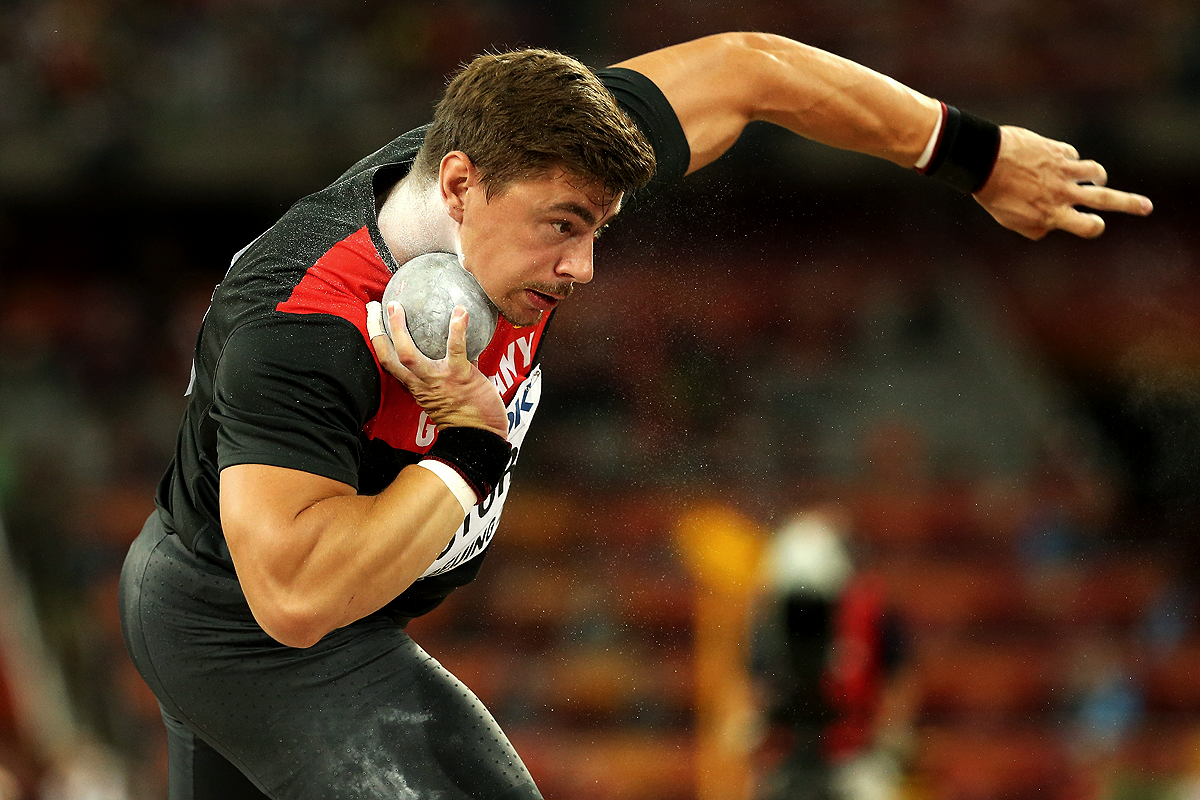 David Storl in the shot put final at the IAAF World Championships Beijing 2015 (Getty Images)