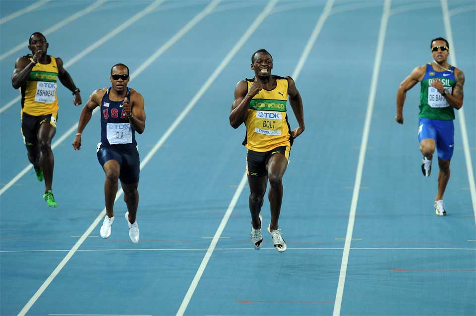 Usain Bolt 100m for Discipline section use only (Getty images)