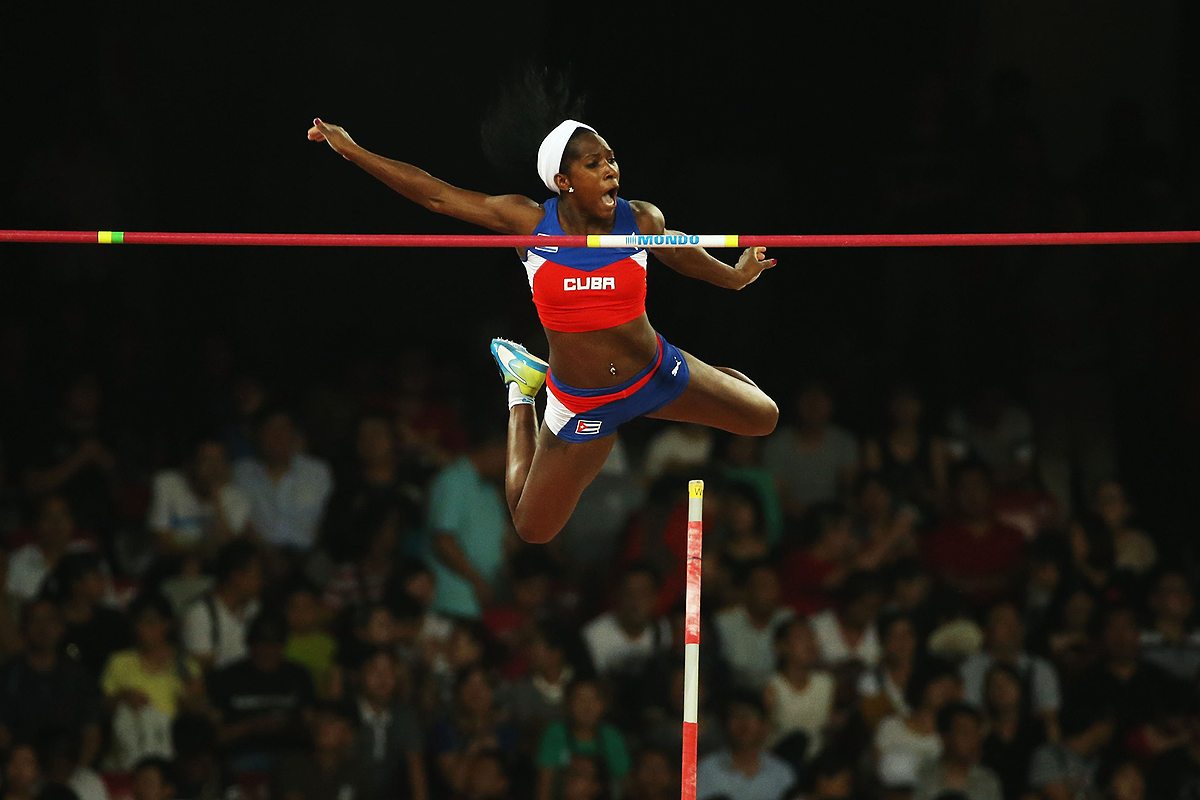 Yarisley Silva winner of the pole vault at the IAAF World Championships Beijing 2015 (Getty images)