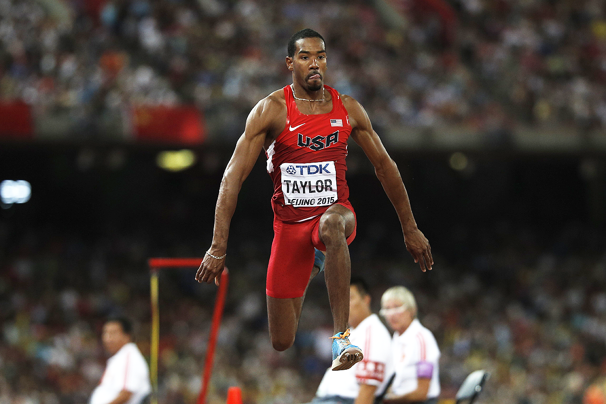 Christian Taylor in the triple jump final at the IAAF World Championships Beijing 2015 (Getty images)
