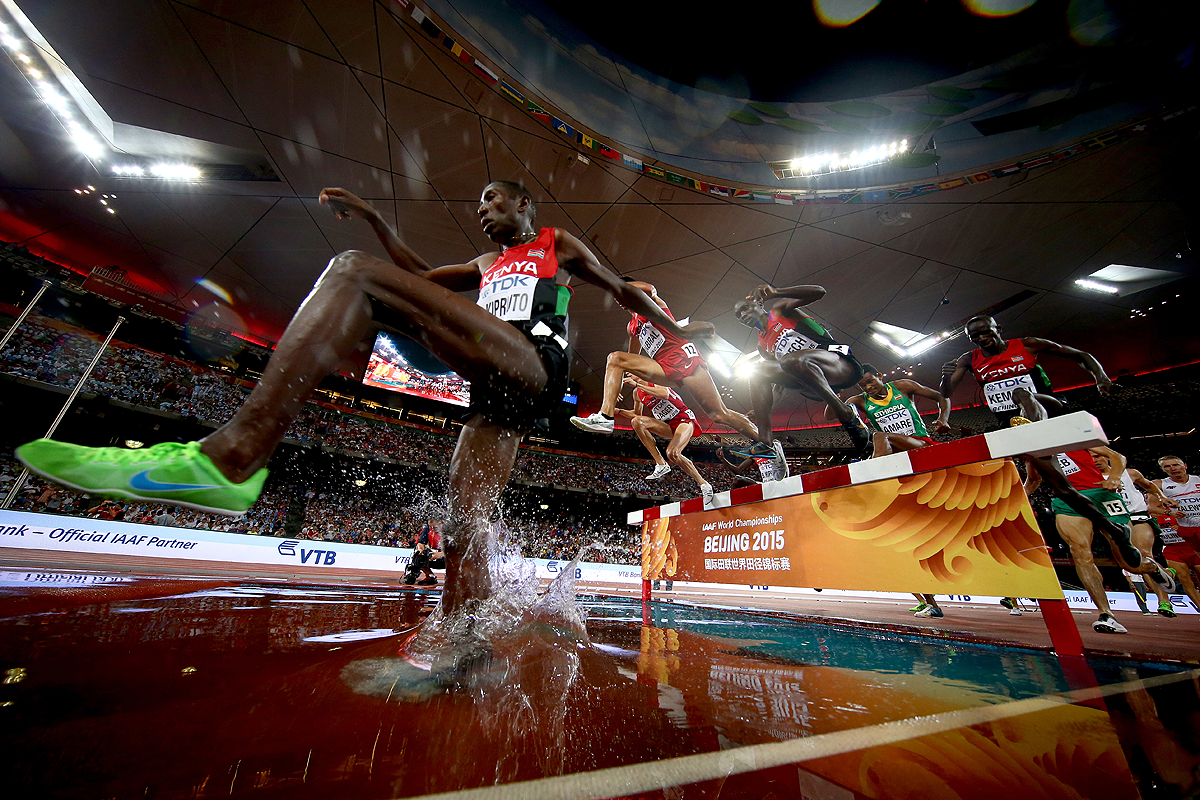 The men's 3000m steeplechase final at the IAAF World Championships Beijing 2015 (Getty Images)