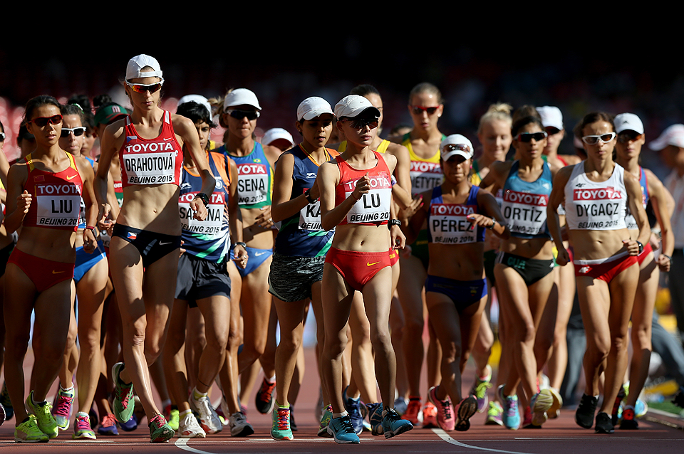 The women's 20km race walk at the IAAF World Championships (Getty Images)
