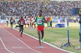 Yomif Kejelcha wins the African junior 5000m title (Bizuayehu Wagaw)