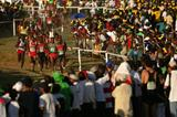 A section of the 30,000 crowd watch the men's senior race (Getty Images)