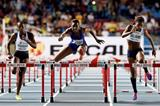 Maribel Caicedo en route to winning the 100m hurdles gold medal at the IAAF World Youth Championships, Cali 2015 (Getty Images)