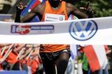 Kenneth Mungara winning in Prague (Volkswagen Prague Marathon organisers)