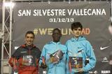Leonard Komon (centre), the winner of the 2013 San Silvestre Vallecana in Madrid (Organisers)