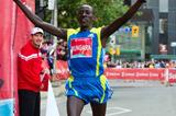 Kenneth Mungara lowers his year old Canadian All Comers record to 2:07:57 in Toronto (Scotiabank Toronto Waterfront Marathon organisers)