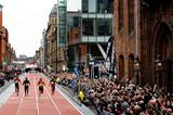 Wallace Spearmon wins the 150m in Manchester in 14.87 (Getty Images)