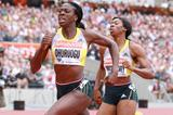 Christine Ohuruogu on her way to victory at the IAAF Diamond League meeting in London (Victah Sailer)