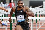 David Oliver powers to victory at the Diamond League meeting in Eugene (Kirby Lee)