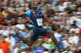 World Leader Dwight Phillips of the United States in flight in the men's Long Jump final at the 12th IAAF World Championships in Athletics in Berlin (Getty Images)