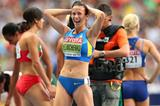 Hanna Melnychenko in the womens Heptathlon at the IAAF World Athletics Championships Moscow 2013 (Getty Images)