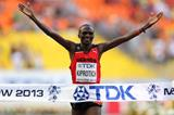 Stephen Kiprotich in the mens Marathon at the IAAF World Athletics Championships Moscow 2013 (Getty Images)