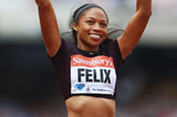 Allyson Felix at the IAAF Diamond League meeting in London (Getty Images)