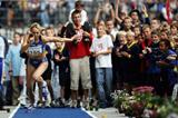 Heike Drechsler of Germany competes in her last ISTAF meeting (Getty Images)