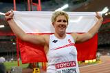 Anita Wlodarczyk celebrates winning the hammer at the IAAF World Championships, Beijing 2015 (Getty Images)