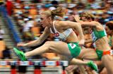 Sally Pearson posts the fastest time in the 100m Hurdles heats (Getty Images)
