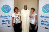 Daughter and granddaughter of Jesse Owens meet IAAF President Diack as Jesse Owens Foundation partners with IAAF Athletics for a Better World (Getty Images)