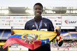 Girls' 100m hurdles winner Maribel Caicedo at the IAAF World Youth Championships, Cali 2015 (Getty Images)