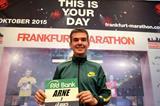 Arne Gabius ahead of the 2015 Frankfurt Marathon (Victah Sailer / organisers)