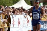 Eider Arevalo of Colombia on his way to winning the Junior title in Saransk (Getty Images)