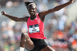 USA's Tori Bowie in action in the long jump (Getty Images)