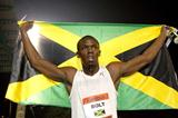 Bolt celebrates the 100m World record in New York (Victah Sailer)