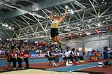 Sebastian Bayer nails his final attempt in the long jump to smash the competition record (Getty Images)