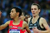 Abdalaati Iguider of Morocco and Nicholas Willis of New Zealand compete in the Men's 1500m Semi Final on Day 9 of the London 2012 Olympic Games on 5 August 2012 (Getty Images)