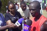 Luke Kibet at the Kenyan Prisons cross country championships (Omulo Okoth)